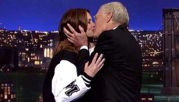 Julia Roberts le dio un último beso a David Letterman