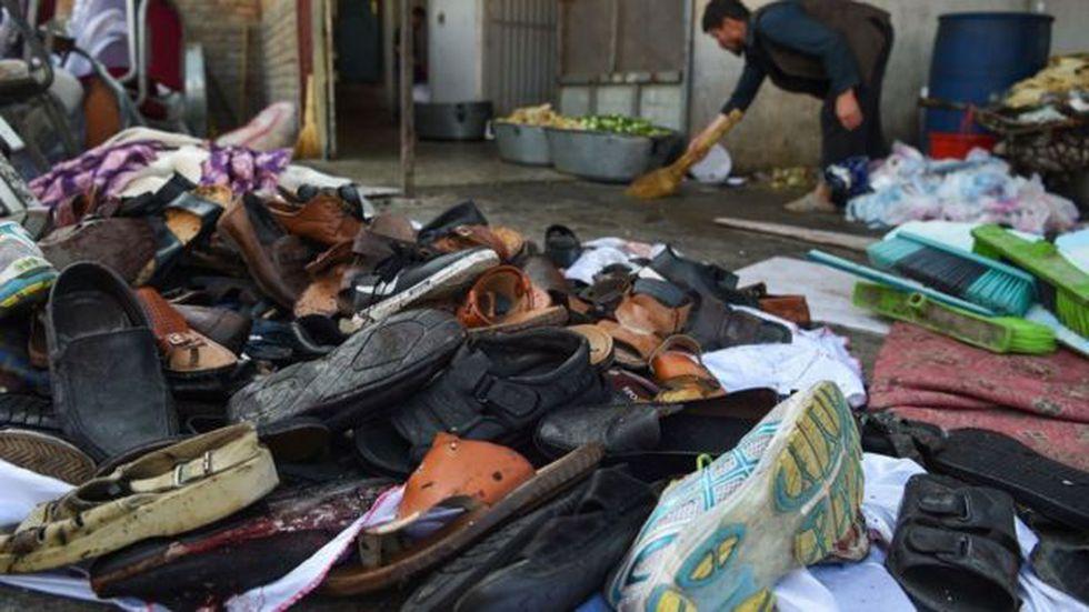 Docenas de personas murieron en la escena, como producto de la explosión. Foto: Getty images, vía BBC Mundo