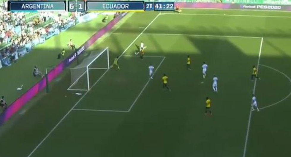 Lucas Ocampos selló la goleada de Argentina ante Ecuador. (Captura: YouTube)