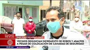 SJM: vecinos denuncian el incremento de robos a pesar de colocar cámaras de seguridad