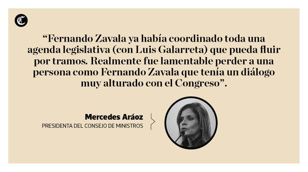 La nueva presidenta del Consejo de Ministros, Mercedes Aráoz, dio su primera entrevista luego de haber asumido el cargo el domingo 17 de setiembre. (Composición: El Comercio)