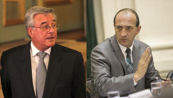 Los pepecistas Javier Bedoya y Juan Carlos Eguren tienen opciones de presidir la lista opositora a la Mesa Directiva del Congreso. (Fotos: Archivo El Comercio)