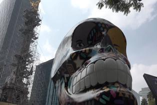 México presenta peculiar muestra por el Día de los Muertos
