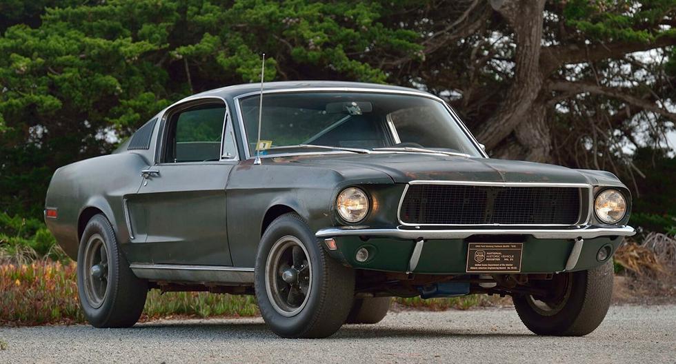 5. Ford Mustang GT 'Bullitt' (1968). Fue conducido por Steve McQueen en la película 'Bullit'. Este ejemplar de motor V8 de 6.4 litros y 320 hp se vendió por US$ 3 millones 673 mil.