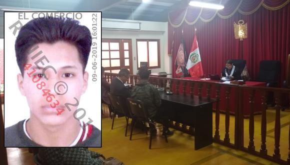 Kevin Jordy Claudio Ayalas debe pagar una reparación civil de más de S/200.000. (Foto: EC/CSJ Lima Sur)