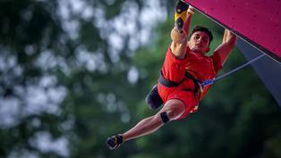 El español Alberto Ginés logra el primer oro olímpico en escalada
