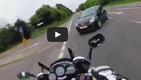 Grabó su muerte mientras manejaba su moto en Inglaterra
