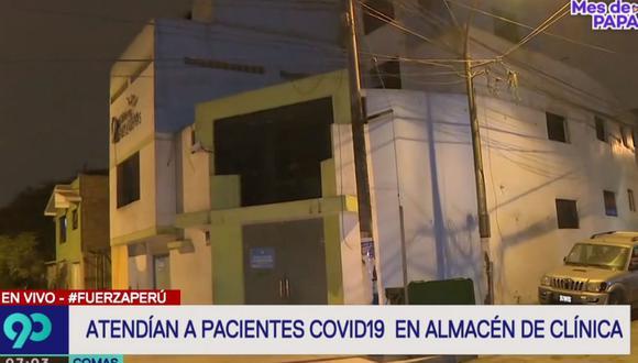 La clínica clandestina está ubicada en la urbanización San Agustín, en Comas. (Latina)
