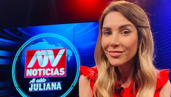 """Juliana Oxenford tras ausentarse de su programa de ATV: """"No me he ido a otro país"""". (Foto: Instagram)."""