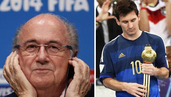 """Blatter dijo que quedó """"sorprendido"""" por Balón de Oro de Messi"""