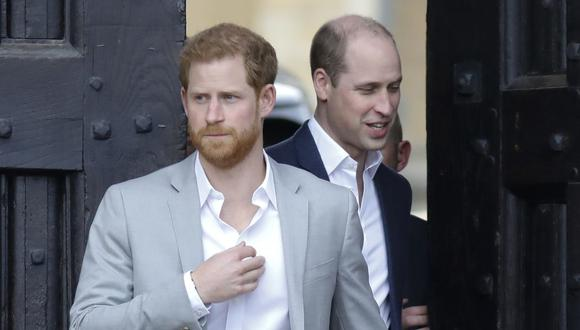 Harry y William han despertado rumores de un posible distanciamiento. (Foto: AFP)