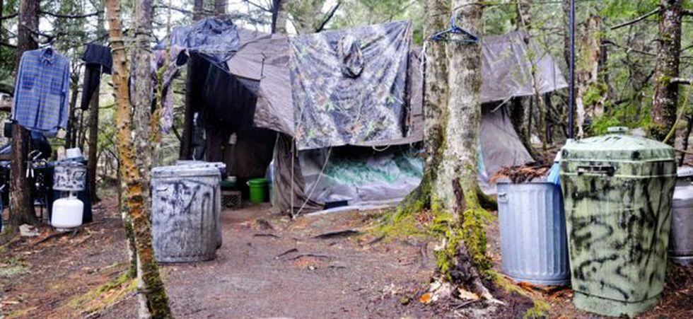El campamento de Knight estaba en un claro cerca de North Pond. Foto: Getty Images, via BBC Mundo