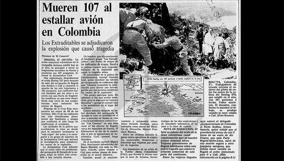Así Ocurrió: Cartel de Medellín hace explotar avión en Colombia