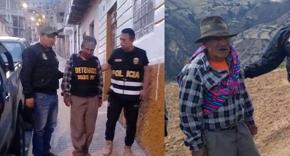 'Tomás' fue atrapado en en el centro poblado de Titimina, distrito de San José de Ticllas (Ayacucho). En la década de los 80 y 90 operaba cerca de ahí dirigiendo emboscadas contra policías y militares. (Foto: PNP)