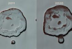 Registran cambios en el 'cráter de la cara feliz' de Marte