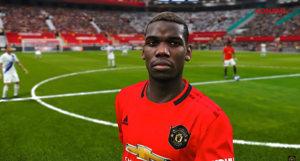 Paul Pogba en eFootbal PES 2020. (Captura de pantalla)