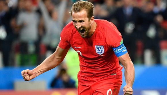 Harry Kane abrió el marcador del Colombia vs. Inglaterra. (Foto: AFP)