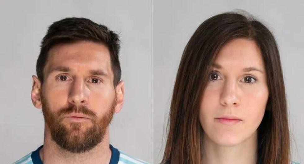 Lionel Messi en versión femenina. (Foto: FaceApp)
