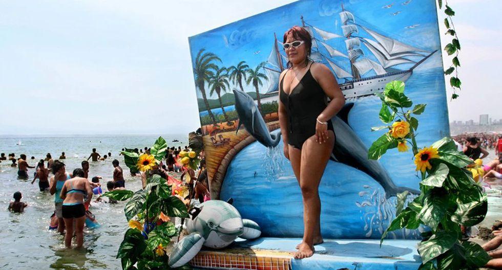 """""""El retrato"""" ( 2006 ), imagen de Adrián Portugal de la serie dedicada a la chorrillana playa Agua Dulce."""