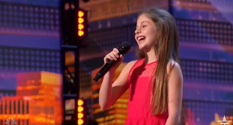 Emanne Beasha llegó a apoderarse del escenario con sus 10 años y su impecable voz. (Foto: captura YouTube)