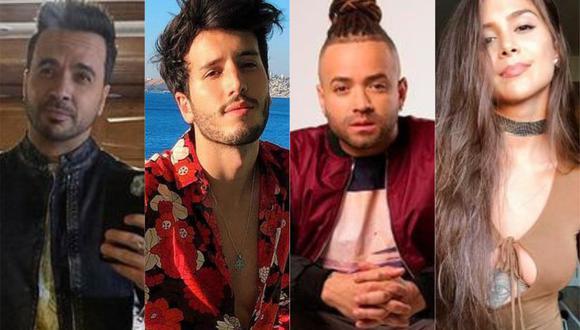 """Luis Fonsi, Sebastián Yatra, Nacho, Greeicy y más artistas cantan a los niños en """"MiniStars"""". (Foto: Composición con fotos de Instagram)"""