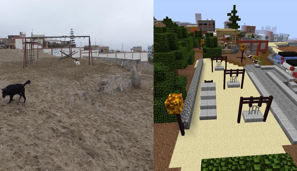 Parque en Villa El SAlvador fue diseñado con Minecraft