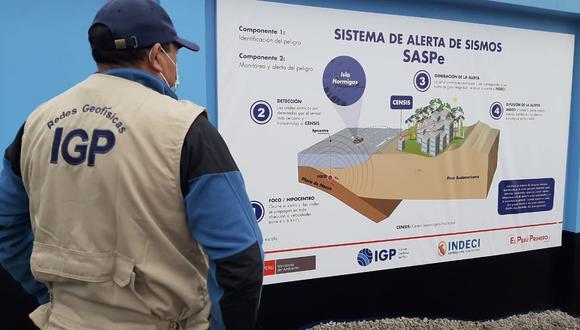 De acuerdo con el IGP, la finalidad de esta estación de alerta sísmica es que los ciudadanos puedan ponerse a buen recaudo, fortaleciendo la cultura de prevención en nuestro país. (Foto: IGP)