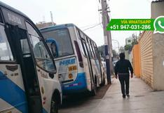 Chorrillos: choferes de ex Orión usan calles como parqueo