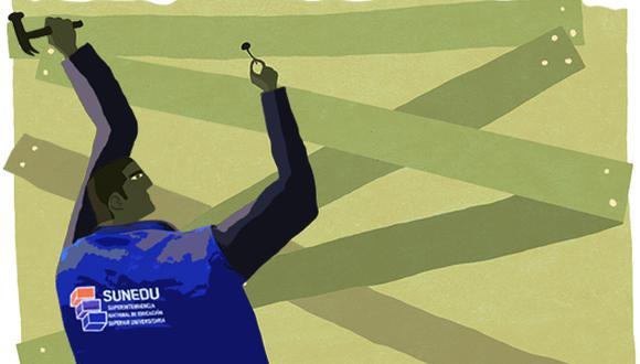 Sunedu demoró un promedio de 2,6 años en negar licencia a universidades. (Ilustración: El Comercio)