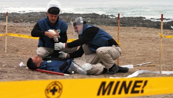 Dos peruanos heridos por explosión de mina en Chile