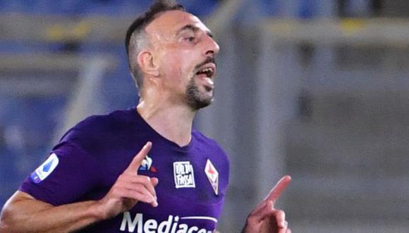 Franck Ribéry es jugador de Fiorentina desde agosto del 2019. (Foto: AFP)