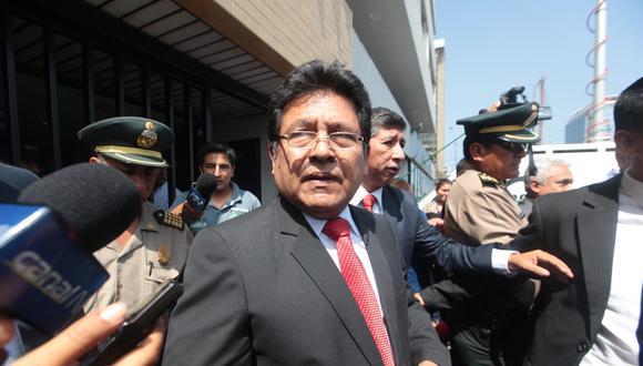 Ramos Heredia negó en todo momento que haya sancionado a los fiscales que tenían a su cargo la investigación del caso La Centralita. (Foto: Archivo El Comercio)
