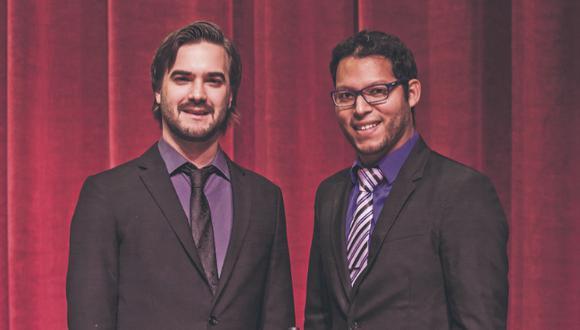 Lorenzo Ferrero y Anibal Seminario de la orquesta Afro Peruvian Jazz.  (Foto: Difusión / Vinney Dawson)