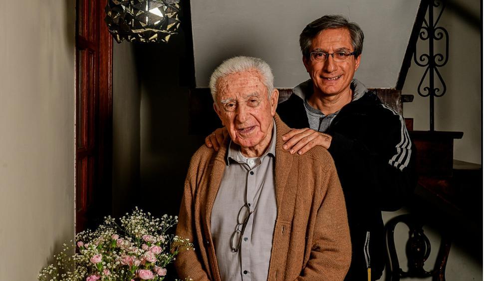 Don Arturo y Federico Salazar. (Foto: Liliana Beraún)