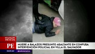 Sujeto muere a balazos en confusa intervención policial en Villa el Salvador