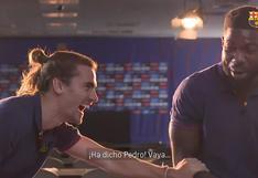 Griezmann y Umtiti protagonizaron divertido reto para calentar el Barcelona-PSG | VIDEO