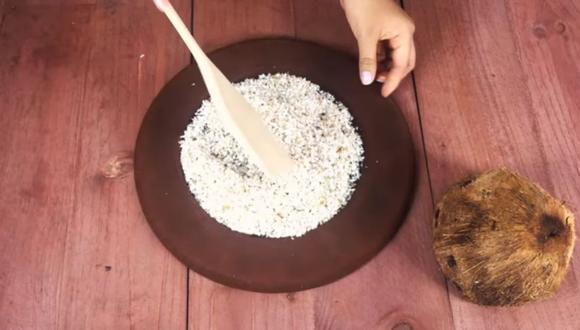 Esta es la receta de la harina de coco. (Foto: Captura de video Elementa)