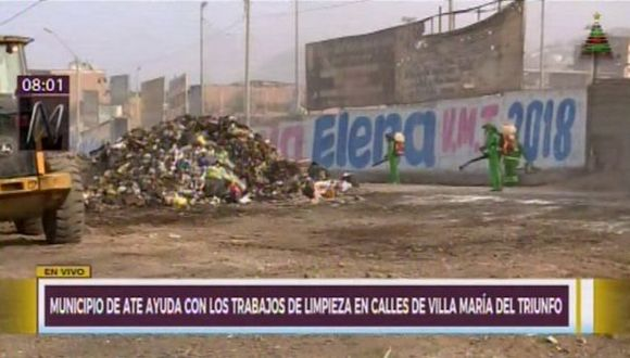 Villa María del Triunfo ha sido declarado en emergencia ambiental por un plazo de 60 días. (Captura: Canal N)