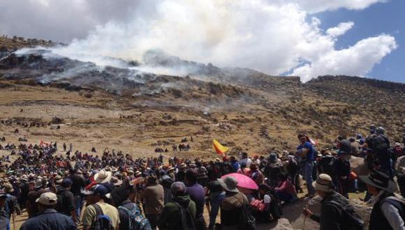 Las Bambas: ordenan prisión preventiva para dos manifestantes