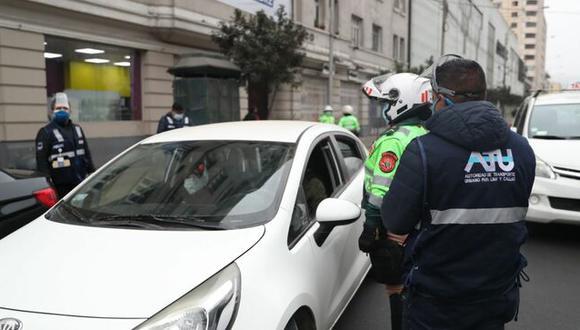 El Gobierno indicó que vehículos particulares no podrán salir a las calles en Navidad y Año Nuevo. (Foto: ATU)