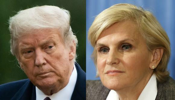 El presidente de Estados Unidos, Donald Trump (izq.), y la directora de Salud Pública y Medioambiente de la Organización Mundial de la Salud (OMS), María Neira. (Foto: AFP)