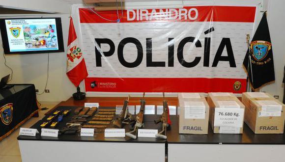 Incautan 420 kilos de droga, armas y municiones en el Vraem