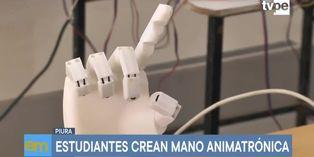 Piura: Estudiantes inventan mano animatrónica