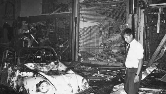 Atentando terrorista en la Calle Tarata. Lima, 16 de julio de 1992. (Foto: Archivo Histórico El Comercio)