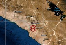 Moquegua: sismo de magnitud 4,0 se reportó en Mariscal Nieto, señala IGP
