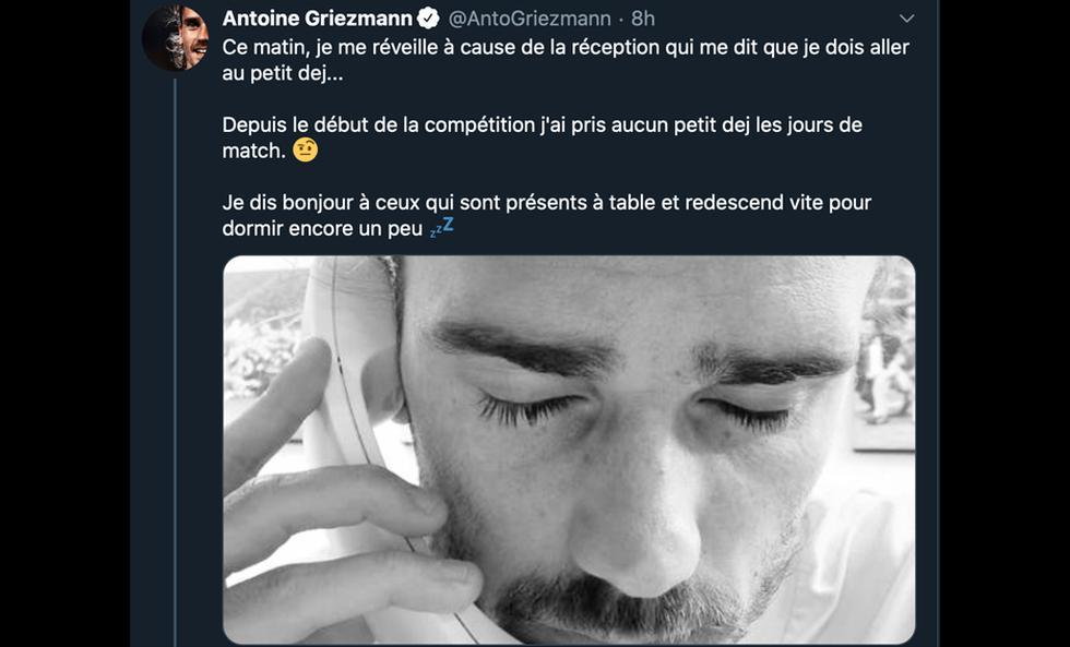 Antoine Griezmann recordó el título de Francia en el mundial Rusia 2018 en redes sociales