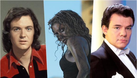 Camilo Sesto, Shakira y José José, diferentes voces de las baladas a través del tiempo. (Fotos: Agencias)
