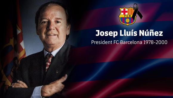 Barcelona: murió Josep Núñez, el ex presidente blaugrana que llevó a Maradona al cuadro culé. (Foto: AFP)