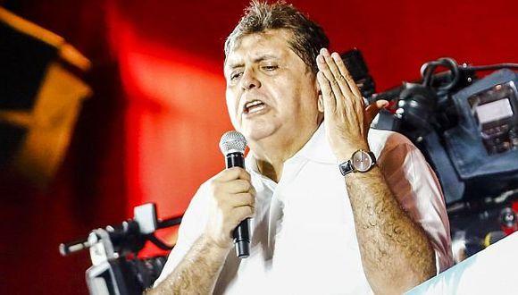 Alan García confirmó su precandidatura presidencial por el Apra
