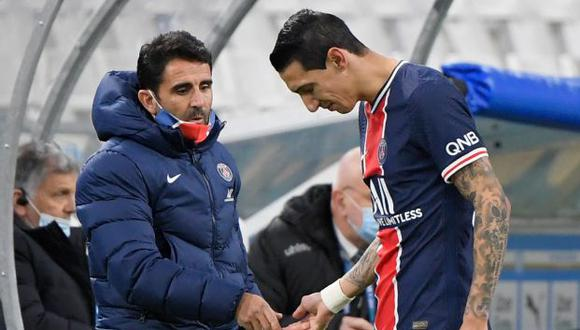 Ángel Di María se lesionó en el partido PSG-Marsella del reciente domingo. (Foto: AFP)